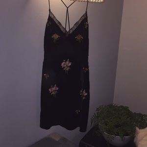 Velour Dress Topshop